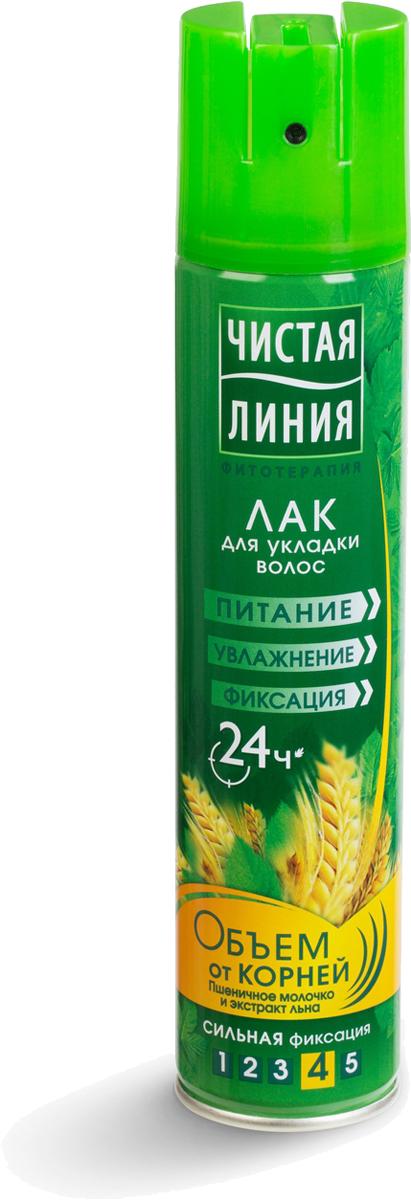 Чистая Линия Лак для укладки волос Объем от корней 200 мл Чистая Линия