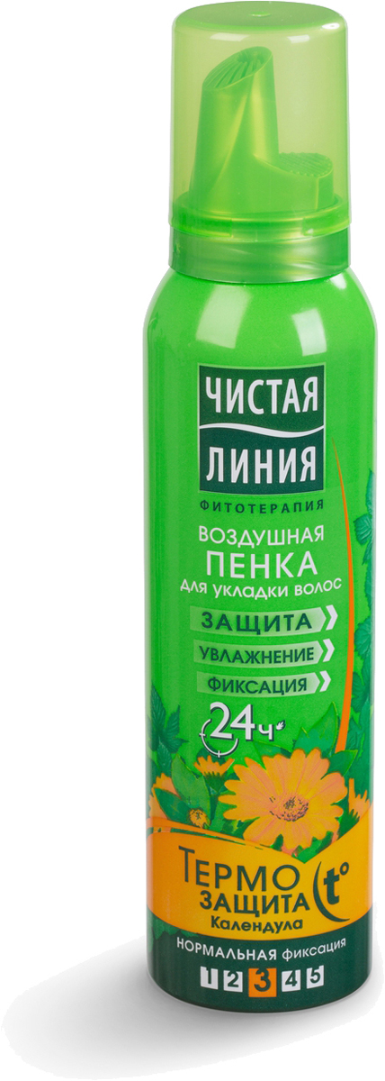 Чистая Линия Пенка для укладки волос Термозащита 150 мл Чистая Линия