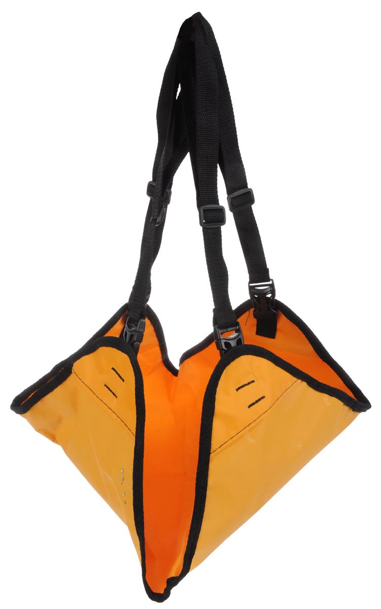 Гамак Заря-Плюс, для выставочных клеток и палаток, цвет: оранжевый, черный, 48 х 54 см гамак двухместный туристический voyager