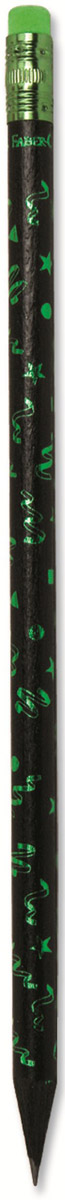 Faber-Castell Карандаш чернографитный Party с ластиком цвет зеленый116873_зеленыйЧернографитовый карандаш Party с ластиком. Круглая форма - цвет корпуса - в ассортименте - твердость HB - легкое затачивание - специальная технология вклеивания (SV) предотвращает поломку грифеля