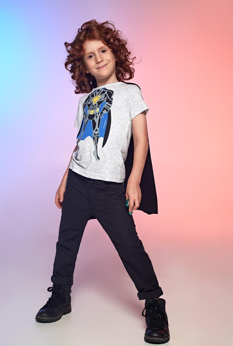 Футболка для мальчика Acoola Milano, цвет: светло-серый. 20120110079_1800. Размер 11020120110079_1800