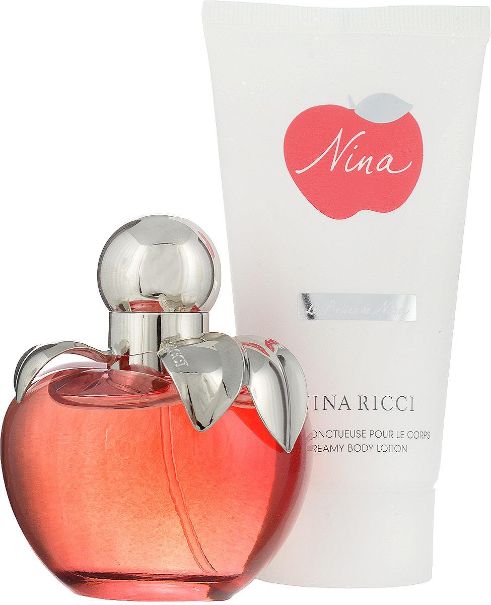 Nina Ricci Парфюмерный набор Nina: туалетная вода, 50 мл, лосьон для тела, 75 мл парфюмерная вода nina ricci nina ricci love in paris ж товар парфюмерная вода 30 мл
