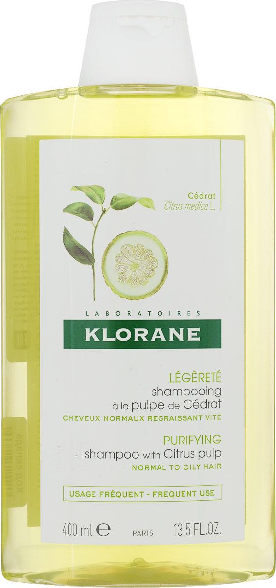 Klorane Шампунь Dull Hair с мякотью Цитрона тонизирующий 400 млC02748Оказывает тонизирующее и защитное действие на кожу головы и волосяные луковицы. Нейтрализует жесткую воду, придает волосам здоровый блеск Придает волосам мягкость и блеск
