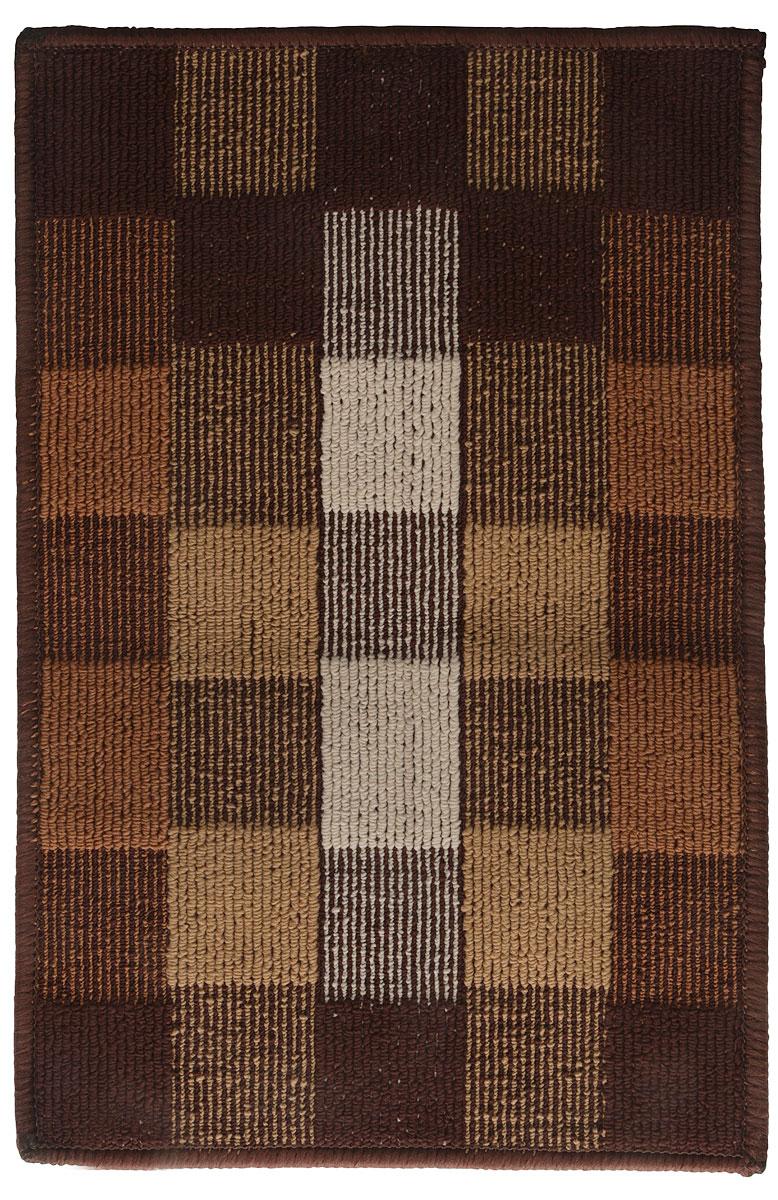 Коврик придверный Vortex Palermo, цвет: коричневый, бежевый, 40 х 60 см коврик придверный gardman santa stop here 40 х 60 см