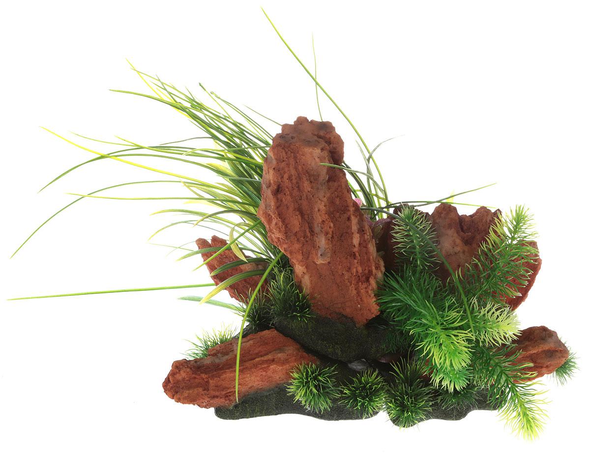 Композиция из растений для аквариума Meijing Aquarium Акваскейпинг, 3 части. YS-17118YS-17118