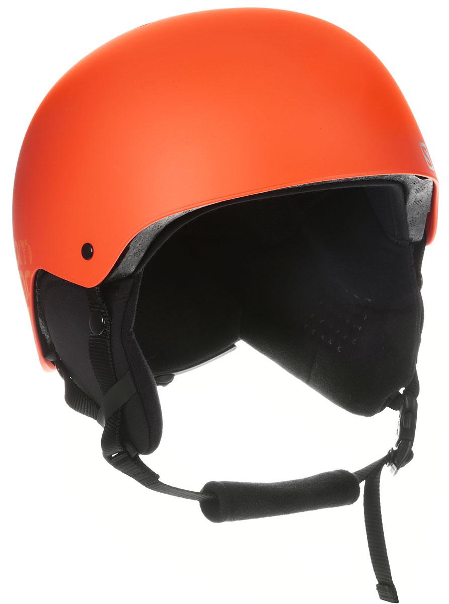 Шлем зимний Salomon Ghost Green, цвет: оранжевый. Размер L (58/62)L40010200Крутой стиль, долговечность и универсальность – подкладку можно заменить шапочкой.