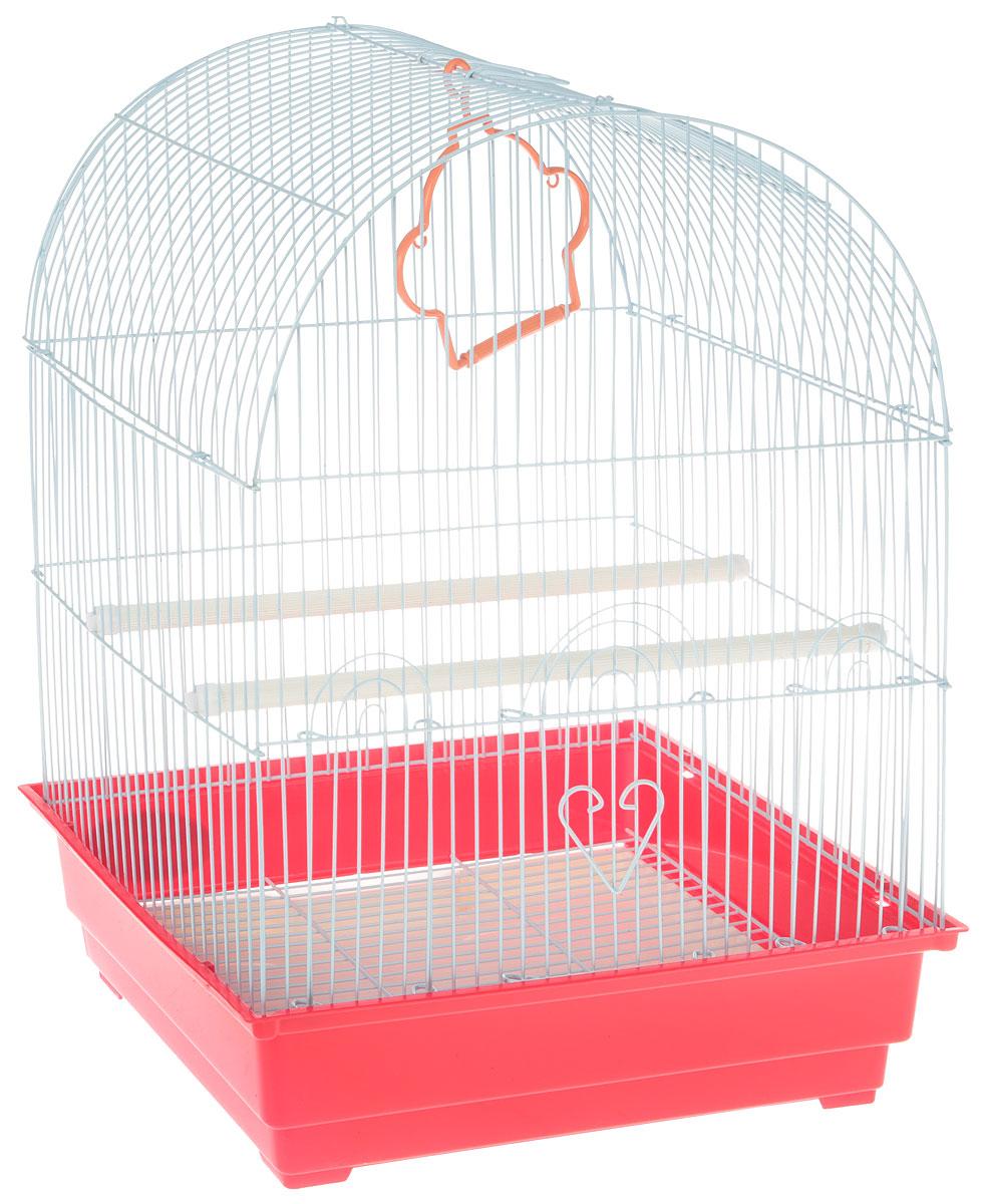 Клетка для птиц Triol, цвет: красный, 35 х 28 х 46 см клетка triol n 1601цинк для птиц 34 5 26 44см