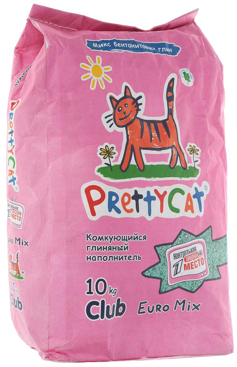 Наполнитель для кошачьих туалетов PrettyCat  Euro Mix , комкующийся, 10 кг - Наполнители и туалетные принадлежности