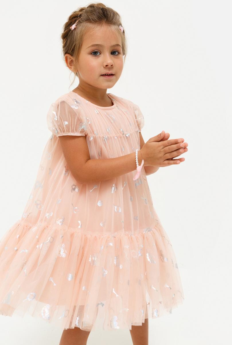 Платье для девочки Acoola Geisha, цвет: светло-розовый. 20220200223_3400. Размер 9220220200223_3400