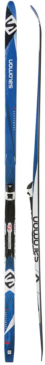 Беговые лыжи Salomon Snowscape 7 Pm Plk Auto, с креплениями, 191 см, размер L (65-85 кг). L402079PM лыжи беговые salomon rs junior цвет черный рост 166 см