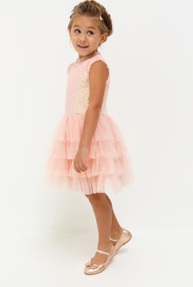 Платье для девочки Acoola Terravita, цвет: светло-розовый. 20220200221_3400. Размер 12820220200221_3400