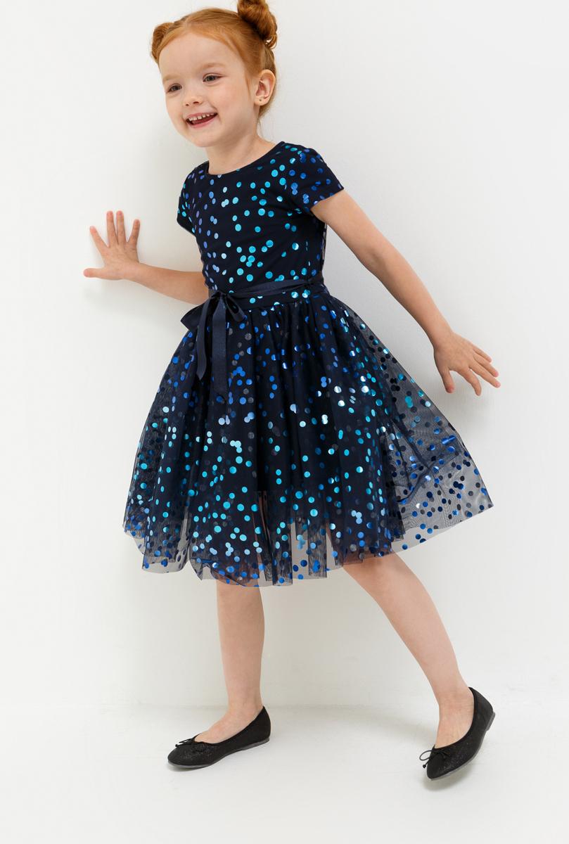 Платье для девочки Acoola Haribo, цвет: темно-синий. 20220200220_600. Размер 9220220200220_600Стильное платье для девочки идеально подойдет вашей маленькой принцессе. Изготовленное из полиэстера, оно необычайно мягкое и приятное на ощупь, не сковывает движения и позволяет коже дышать, не раздражает даже самую нежную и чувствительную кожу ребенка, обеспечивая ему наибольший комфорт.Оригинальный современный дизайн и модная расцветка делают это платье модным и стильным предметом детского гардероба. В нем ваша малышка будет чувствовать себя уютно и комфортно и всегда будет в центре внимания!