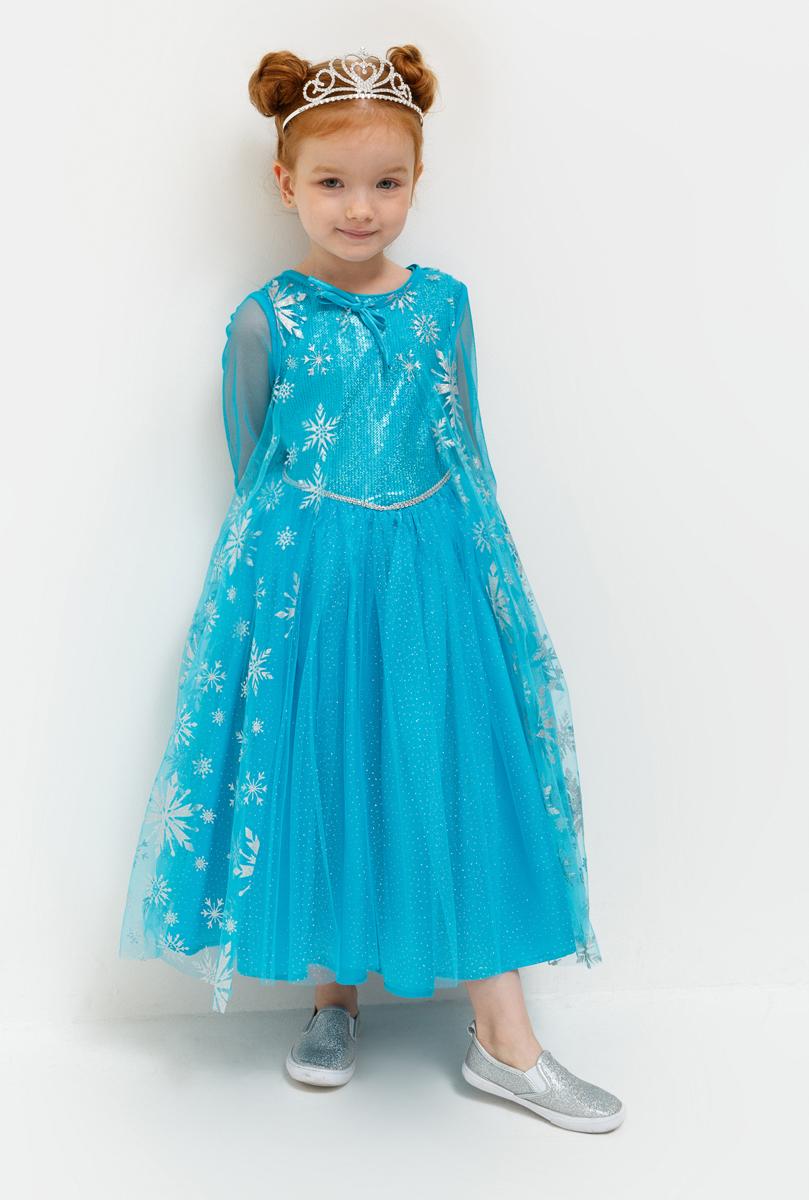 Платье для девочки Acoola Crystal, цвет: бирюзовый. 20220200217_3100. Размер 11020220200217_3100Длинное платье с лифом, расшитым пайетками, и многослойной юбкой. Длинные рукава, отрезная линия талии. Застегивается на пуговицу на спинке.