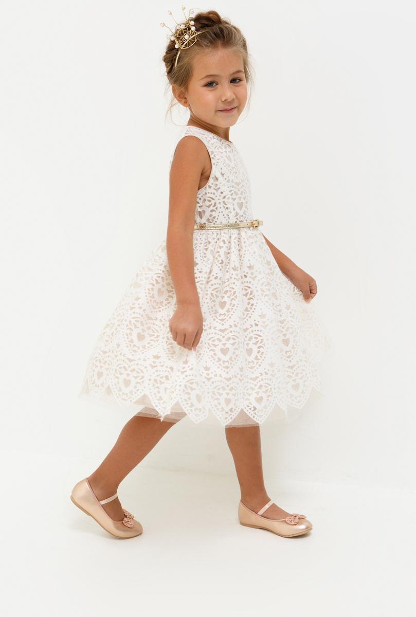 Платье для девочки Acoola Charlotte, цвет: светло-розовый. 20220200214_3400. Размер 11020220200214_3400