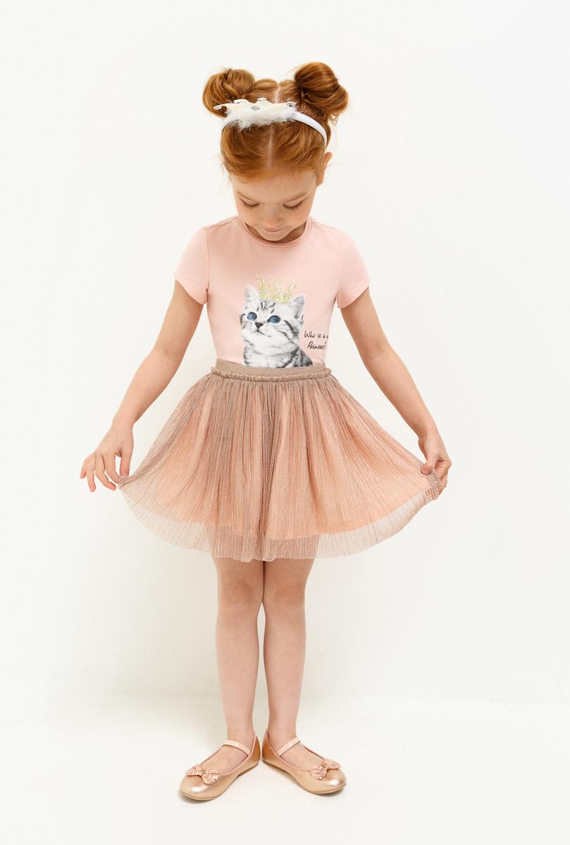 Юбка для девочки Acoola Nesquik, цвет: светло-розовый. 20220180058_3400. Размер 11620220180058_3400