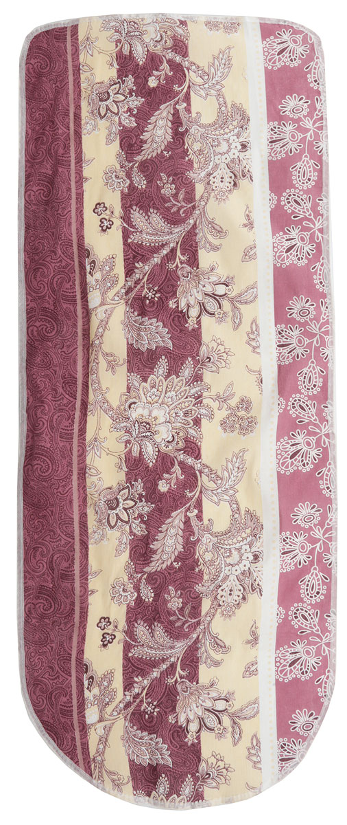 Чехол для гладильной доски Detalle, цвет: бордовый, коричневый, бежевый, 125 х 47 см. Е1301Е1301Чехол для гладильной доски Detalle, выполненный из хлопка с подкладкой из мягкого войлокообразного полотна (ПЭФ), предназначен для защиты или замены изношенного покрытия гладильной доски. Чехол снабжен стягивающим шнуром, при помощи которого вы легко отрегулируете оптимальное натяжение чехла и зафиксируете его на рабочей поверхности гладильной доски. Из войлокообразного полотна вы можете вырезать подкладку любого размера, подходящую именно для вашей доски. Этот качественный чехол обеспечит вам легкое глажение. Он предотвратит образование блеска и отпечатков металлической сетки гладильной доски на одежде. Войлокообразное полотно практично и долговечно в использовании.Размер чехла: 125 см x 47 см.Максимальный размер доски: 120 см х 42 см.