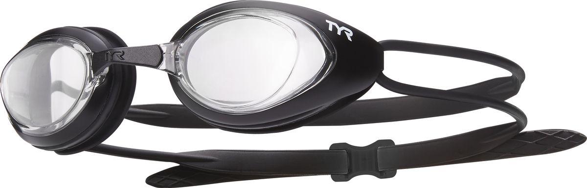 Очки для плавания Tyr Black Hawk Racing, цвет: прозрачный, черный. LGBHLGBHОчки TYR Blackhawk Racing, разработаны для соревнований, но подойдут и для тренировок. Узкий профиль очков TYR Blackhawk - обеспечивает плотное прилегание и минимальное сопротивление в воде. Легкая, обтекаемая, водонепроницаемая конструкция этих очков, включает фирменный силиконовый уплотнитель TYR Durafit. Линзы обладают широким спектром периферического зрения, ни что не ускользнет от Вашего взгляда. Также в комплекте идут 5 сменных переносиц разного размера. Линзы обработаны раствором антифог