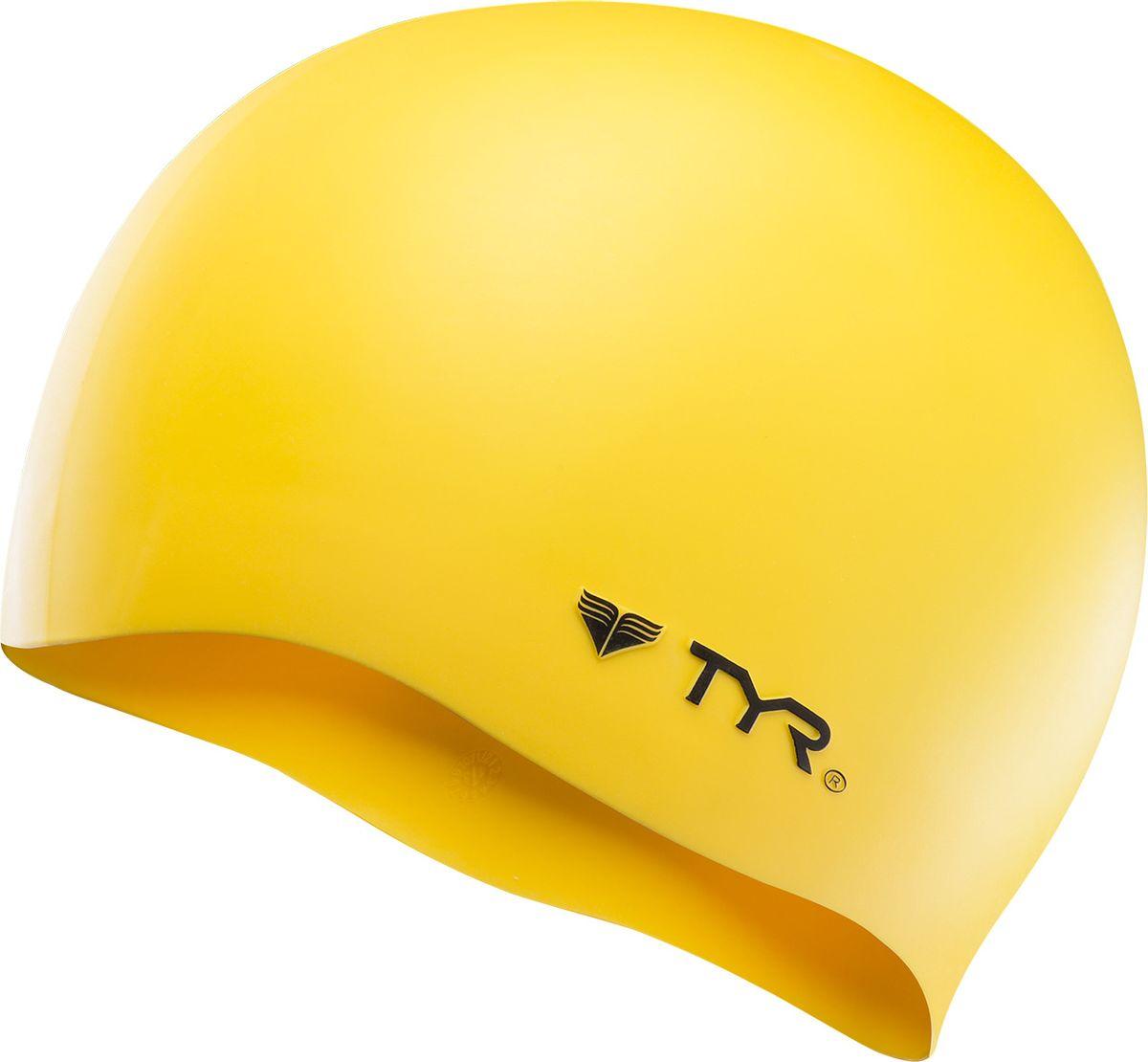 Шапочка плавательная Tyr Wrinkle Free Silicone Cap, цвет: желтый. LCSLCSСиликоновая шапочка TYR Wrinkle Free – изготовлена из высококачественного материала устойчивого к воздействию хлорированной воды, что гарантирует долгий срок службы. Материал шапочки не вызывает раздражения кожи и других аллергических реакций. Прекрасный вариант для тренировок в бассейне.