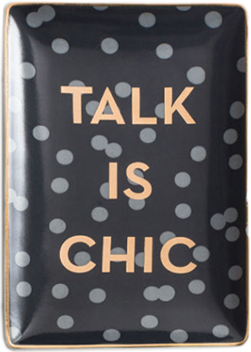 Поднос декоративный Rosanna Talk Is Chic 96179Поднос Rosanna, изготовленный из настоящего фарфора в изысканных расцветках, станет незаменимым предметом для сервировки стола и не оставит ни одну хозяйку равнодушной. Не рекомендуется использовать в микроволновой печи во избежание появления трещин.