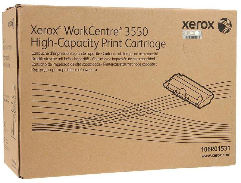 Xerox 106R01531, Black тонер-картридж для Xerox WorkCentre 3550106R01531Картридж лазерный Xerox 106R01531 идеально подходит для работы с Xerox WorkCentre 3550. Он способен обеспечить печать 11000 страниц при использовании стандартной бумаги формата А4 благодаря повышенной емкости. Картридж изготовлен из качественных материалов и гарантирует работоспособность даже в условиях максимальной загрузки устройства. Картридж предназначен для печати черным цветом и обеспечивает бесперебойную работу современного оборудования. Xerox 106R01531 ? это сочетание лучших материалов по доступной цене.