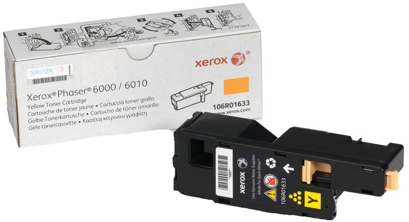 Xerox 106R01633, Yellow тонер-картридж для Xerox Phaser 6000/WorkCentre 6010 nv print 106r01632m magenta тонер картридж для xerox phaser 6000 6010