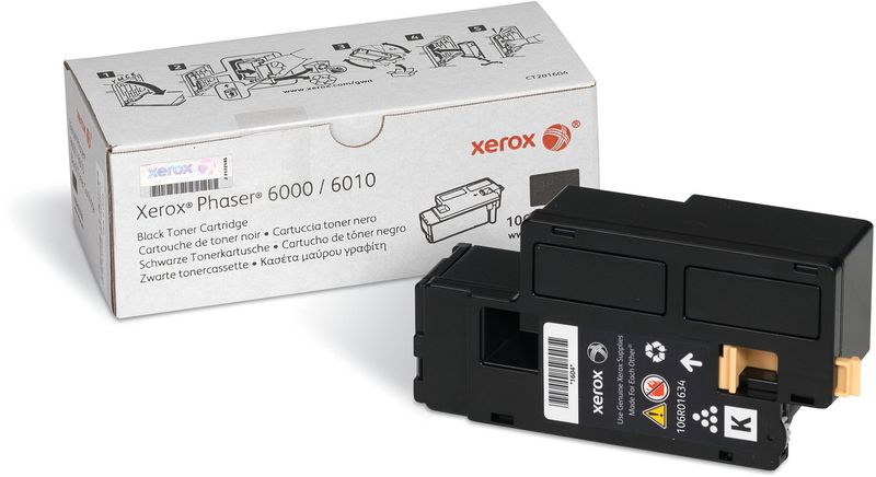 Xerox 106R01634, Black тонер-картридж для Xerox Phaser 6000/WorkCentre 6010 nv print 106r01632m magenta тонер картридж для xerox phaser 6000 6010