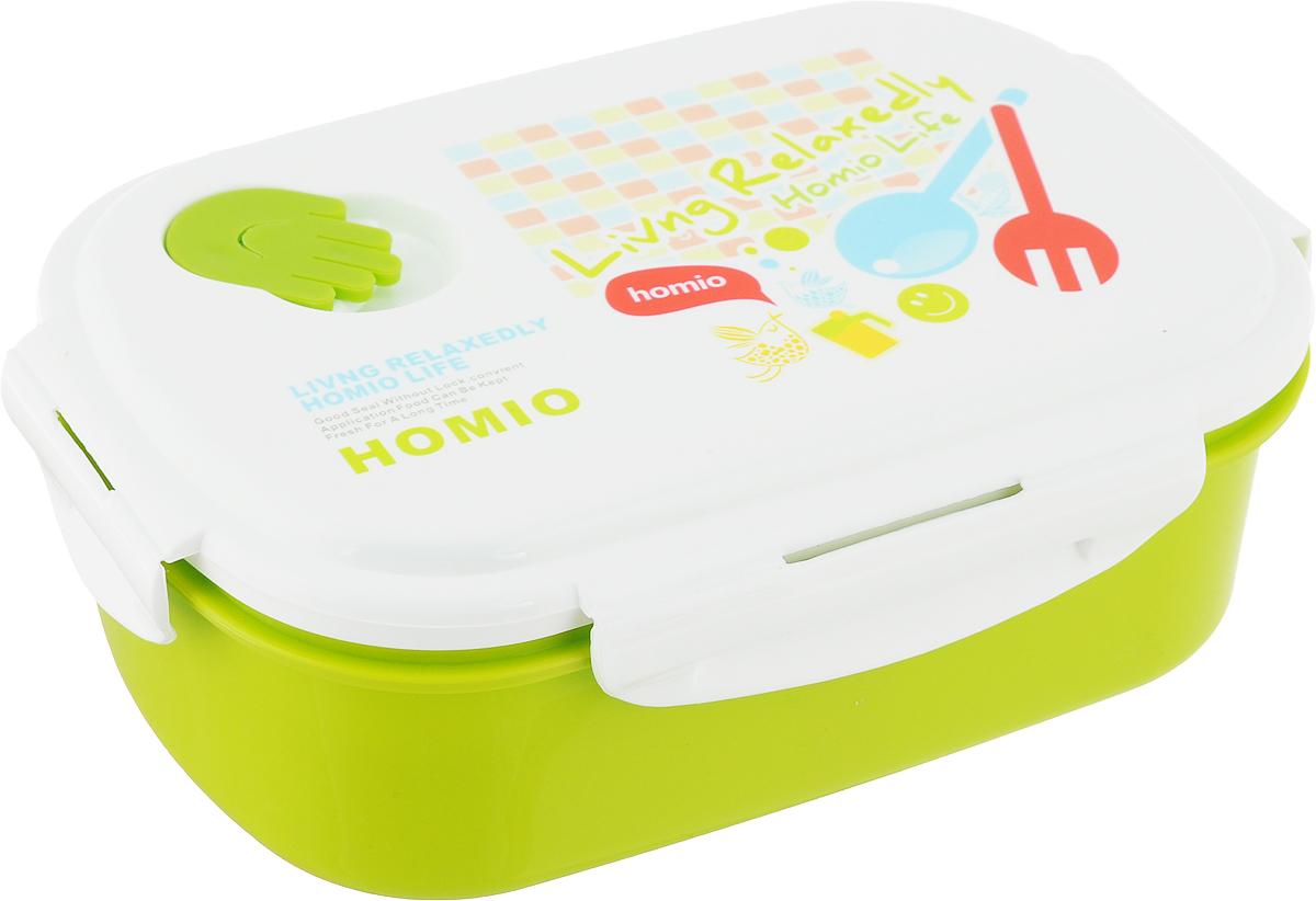 Ланч-бокс Attribute Joy, цвет: салатовый, белый, 950 млATC407Ланч-бокс Attribute Joy изготовлен из безопасного пищевого пластика. Внутри содержится переставная перегородка, с помощью которой внутреннее пространство можно поделить на 2 секции. Герметичная крышка с силиконовой прокладкой плотно закрывается на 4 защелки и долго сохраняет продукты свежими. Такой ланч-бокс будет очень полезен в поездках, для работы, учебы.Изделие можно использовать в микроволновой печи, в холодильнике. Можно мыть в посудомоечной машине.
