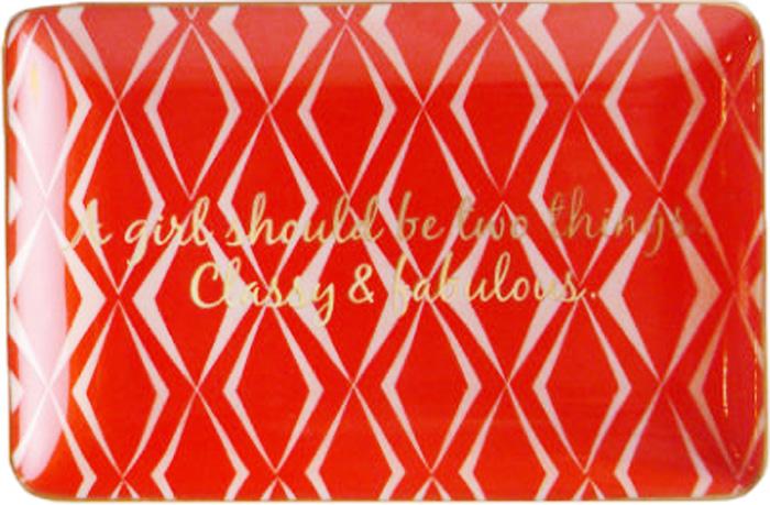 Поднос декоративный Rosanna Classy & Fabulous95829Поднос Rosanna, изготовленный из настоящего фарфора в изысканных расцветках, станет незаменимым предметом для сервировки стола и не оставит ни одну хозяйку равнодушной. Не рекомендуется использовать в микроволновой печи воизбежание появления трещин.