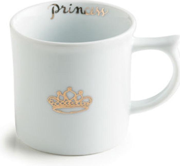 """Кружка Rosanna """"Princess Mug"""" выполнена из высококачественного фарфора и оформлена небольшим принтом. Стильная и необычная кружка  имеет широкую  горловину и удобную ручку для повседневного использования. Не оставит равнодушным ни одного из ваших гостей и станет прекрасным выбором  для подарка."""