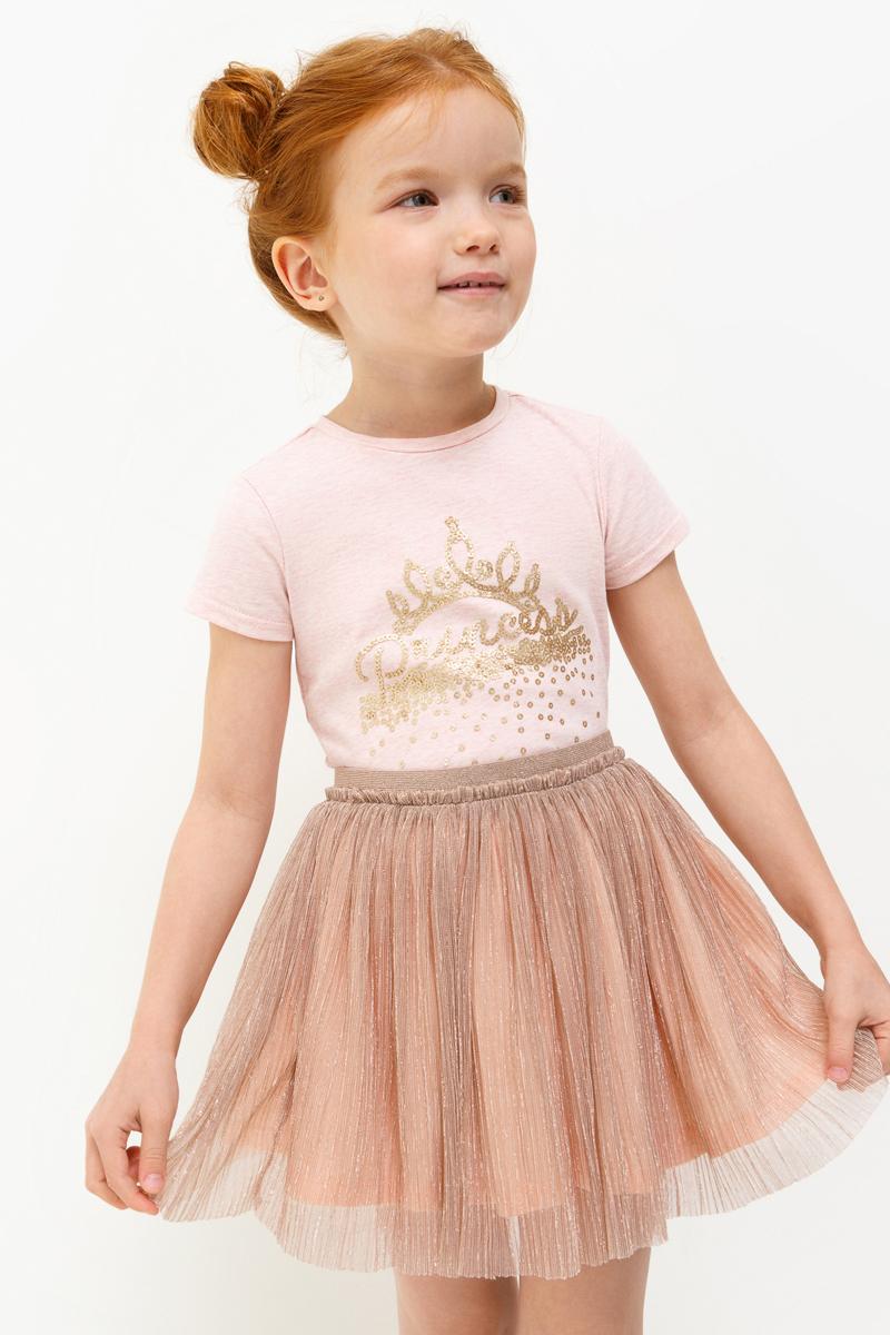 Футболка для девочки Acoola Meringue, цвет: светло-розовый. 20220110112_3400. Размер 116 футболка с длинным рукавом для девочки acoola avon цвет светло розовый 20210100132 размер 164