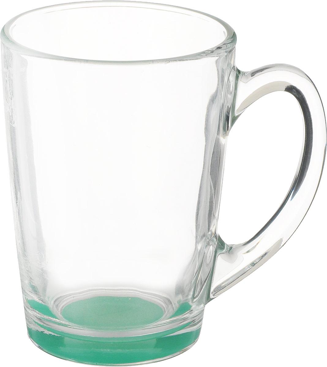 Кружка Luminarc Morning Rainbow, цвет: мятный, прозрачный, 320 млJ5974_мятныйКружка Luminarc Morning Rainbow изготовлена из упрочненного стекла. Такая кружка прекрасно подойдет для горячих и холодных напитков. Она дополнит коллекцию вашей кухонной посуды и будет служить долгие годы. Диаметр кружки (по верхнему краю): 8 см. Высота стенки кружки: 11 см.