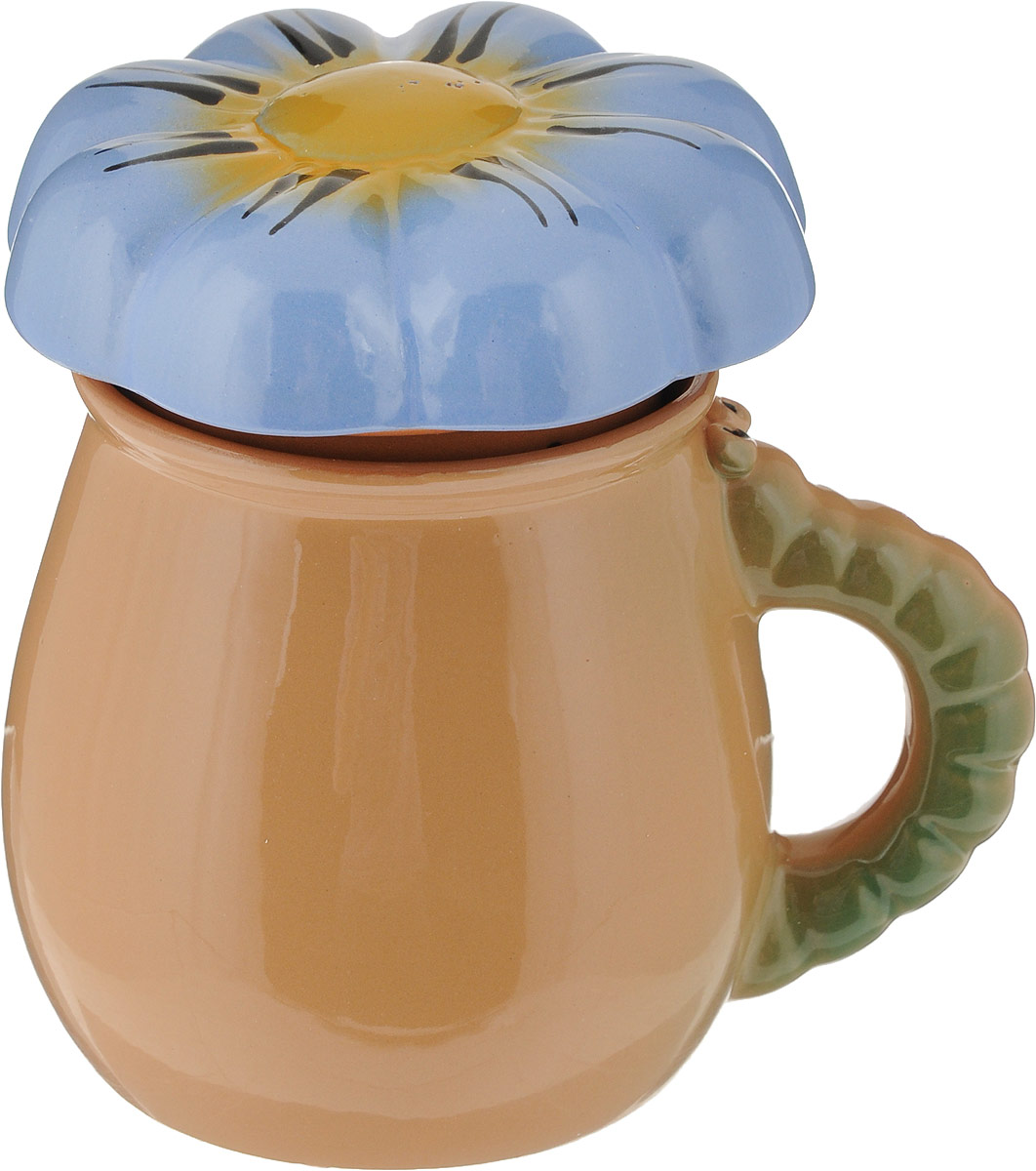 """Чашка Борисовская керамика """"Цветок"""", выполненная из высококачественной керамики, сочетает в себе изысканный дизайн с максимальной функциональностью.Чашка Борисовская керамика """"Цветок"""" и размером, и декором отвечает всем требованиям людей с широкой душой и хорошим аппетитом, поэтому прекрасно подходит как для ежедневных трапез, так и для подарка дорогим друзьям.  В комплект сходит крышка и фильтр. Диаметр чашки (по верхнему краю): 8,5 см. Высота стенки чашки: 10 см. Общий размер чашки (с фильтром и крышкой): 13,5 см. Размер фильтра: 8,5 х 8,5 х 7 см."""