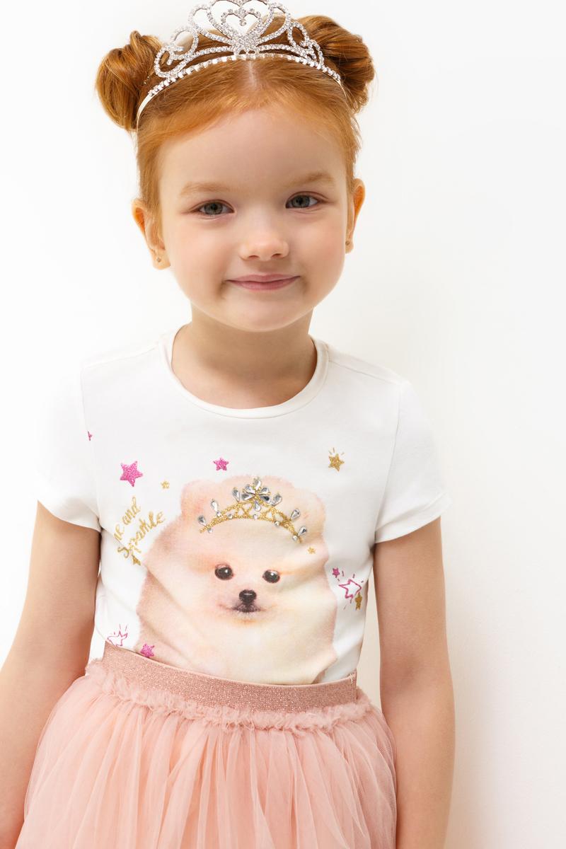 Футболка для девочки Acoola Eclairs, цвет: молочный. 20220110110_300. Размер 12820220110110_300
