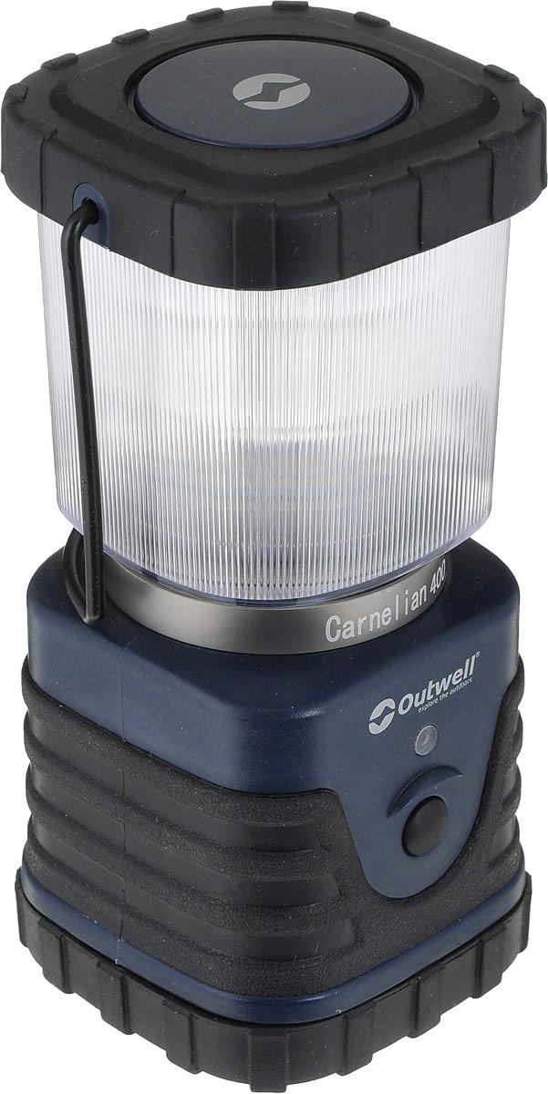 Лампа Outwell Carnelian 400 Lantern650419Лампа Outwell Carnelian 400 Lantern пригодится в походе или на рыбалке, чтобы осветить пространство вокруг. Изделие имеет имеет 3 режима свечения: яркий, спокойный и мигающий, а также ночную подсветку, влагостойкий корпус, ручку для переноски и складной крючок.Материал: пластик, металл, резина.Размер: 18 х 8 х 8 см.Батареи: 3 х D.Источник: 5,35 SMD LED, 400 Lumens.Время непрерывной работы: 24 часы.