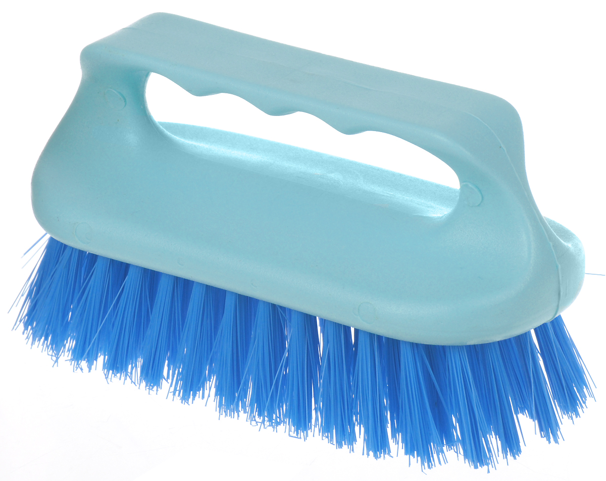 Щетка для ванны Хозяюшка Мила Сальвия, цвет: бирюзовый, голубой24006_бирюзовый, голубойЩетка для ванны Хозяюшка Мила Сальвия, изготовленная из высокопрочного пластика, идеально подходит для снятия сильных загрязнений. Удобная ручка делает процесс чистки комфортным, а форма щетки позволяет хорошо чистить даже труднодоступные места. Щетина средней жесткости не повреждает поверхность. Размер щетки (с учетом ручки и щетины): 13,5 х 6 х 7,2 см.Длина щетины: 2,5 см.