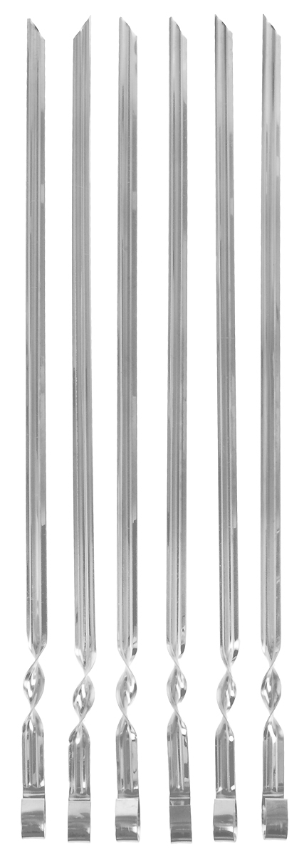 Набор усиленных шампуров Grillkoff, в чехле, длина 50 см, 6 шт199Набор усиленных шампуров Grillkoff из пищевой нержавеющей стали 1 мм, в чехле. Предназначен для термической обработки пищи в походных условия и на приусадебном участке, на открытом воздухе.