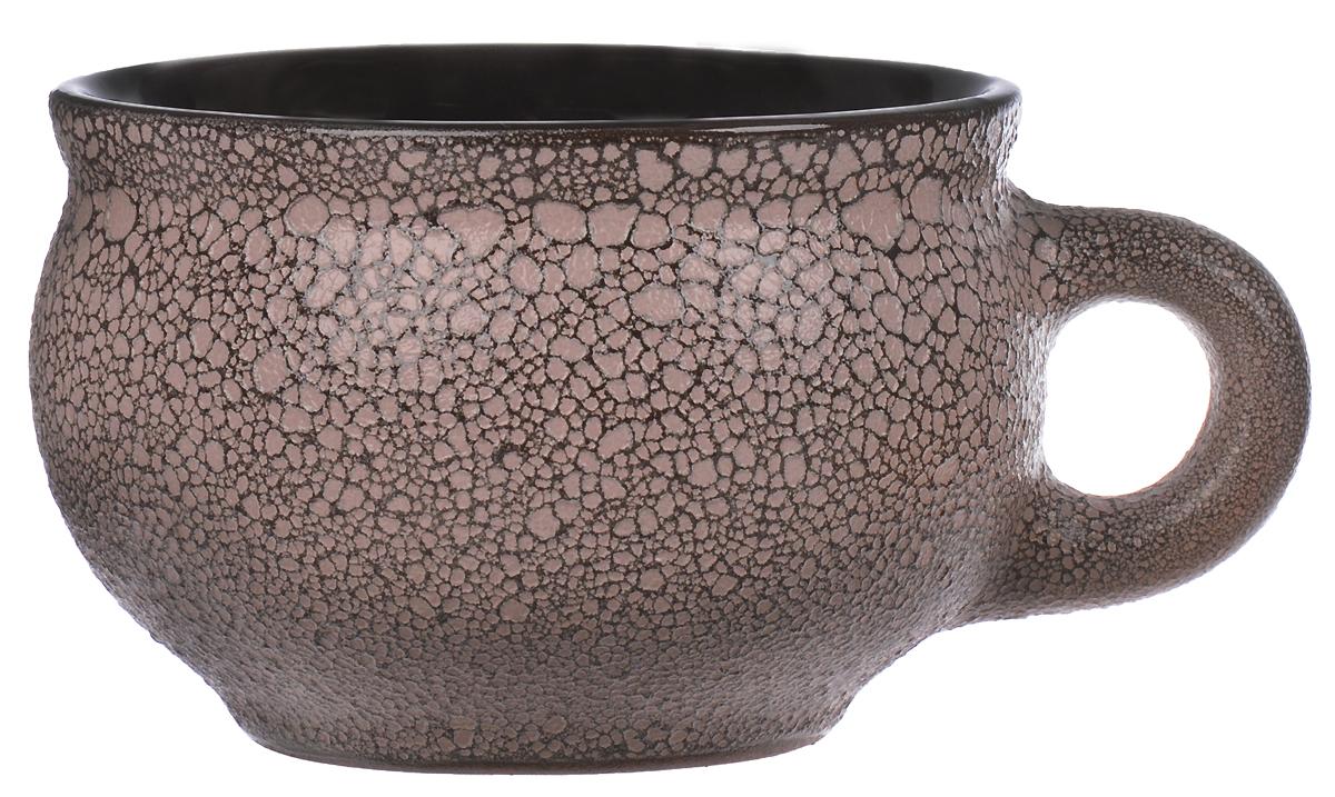 Чашка чайная Борисовская керамика, цвет: кофейный, 250 млМРМ14456674Удобная чашка Борисовская керамика предназначена для повседневного использования. Она выполнена из высококачественной керамики с рельефной поверхностью. Природные свойства этого материала позволяют долго сохранять температуру напитка, даже, если вы пьете что-то холодное.Диаметр чашки (по верхнему краю): 9,5 см.Диаметр основания: 5,5 см.Высота чашки: 6,5 см.