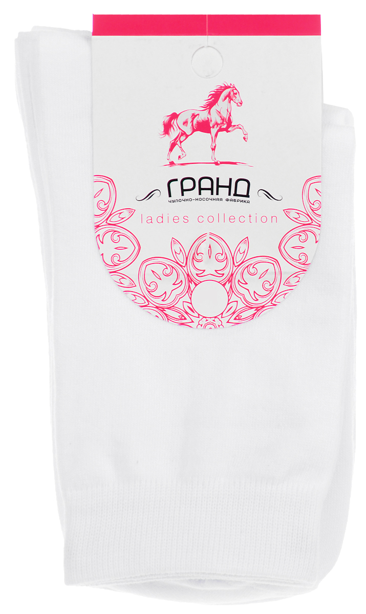 Носки женские Гранд, цвет: белый, 3 пары. SCL144(A1H). Размер 36/38SCL144(A1H)Носки Гранд - изготовлены из лучшей гребенной пряжи, хорошо держат форму и обладают повышенной воздухопроницаемостью, безупречный внешний вид, высокий паголенок с двубортной резинкой, после стирки не меняют цвет, усилены пятка и мысок для повышенной износостойкости. В комплекте три пары.