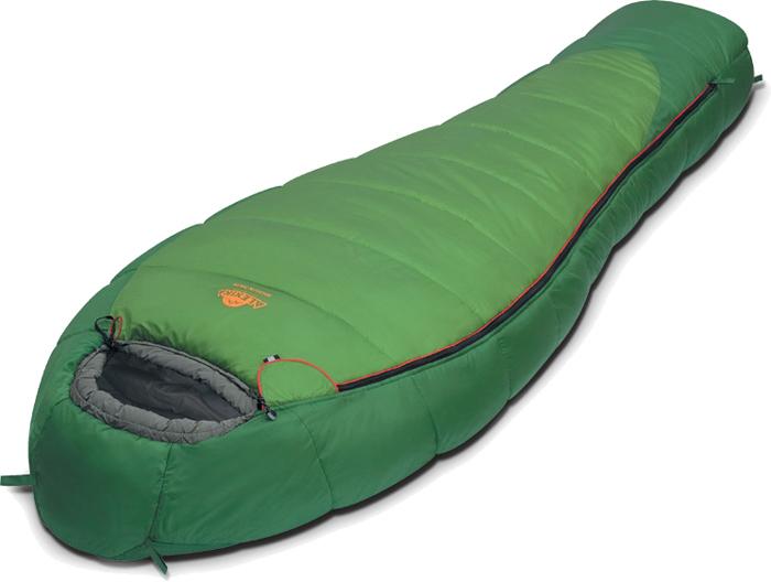 Спальный мешок Alexika Mountain, цвет: зеленый, правосторонняя молния. 9221.01011