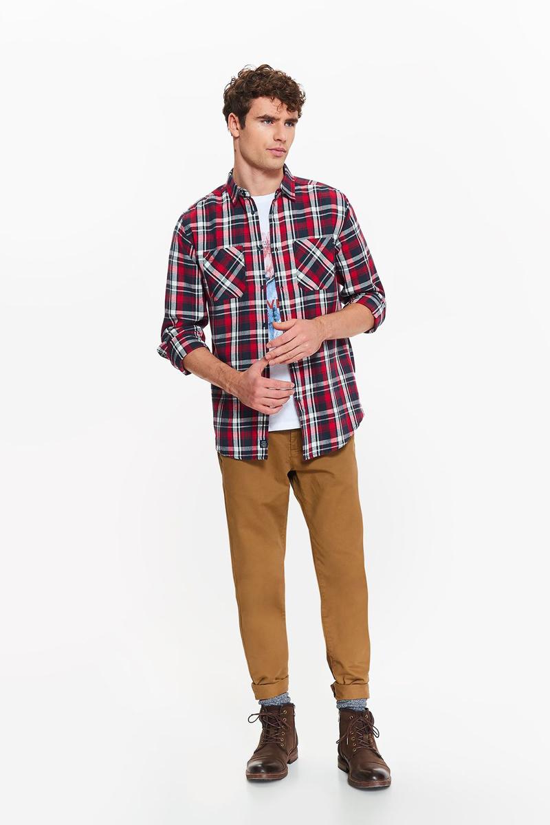 Рубашка мужская Top Secret, цвет: темно-синий. SKL2430GR. Размер 40/41 (48)SKL2430GR