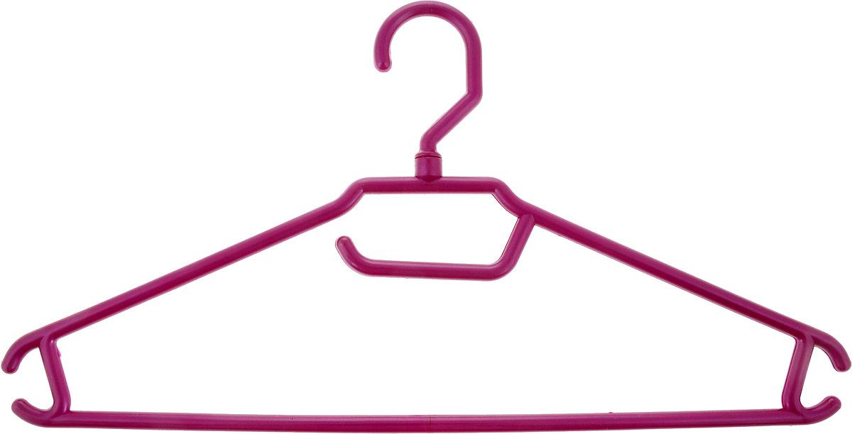 Вешалка для одежды BranQ, цвет: бордовый, размер 48-50BQ1892МИКС_бордовыйВешалка BranQ изготовлена из полипропилена. Изделие оснащено перекладиной и боковыми крючками. Вешалка - это незаменимая вещь для того, чтобы одежда всегда оставалась в хорошем состоянии и имела опрятный вид.Размер одежды: 48-50.