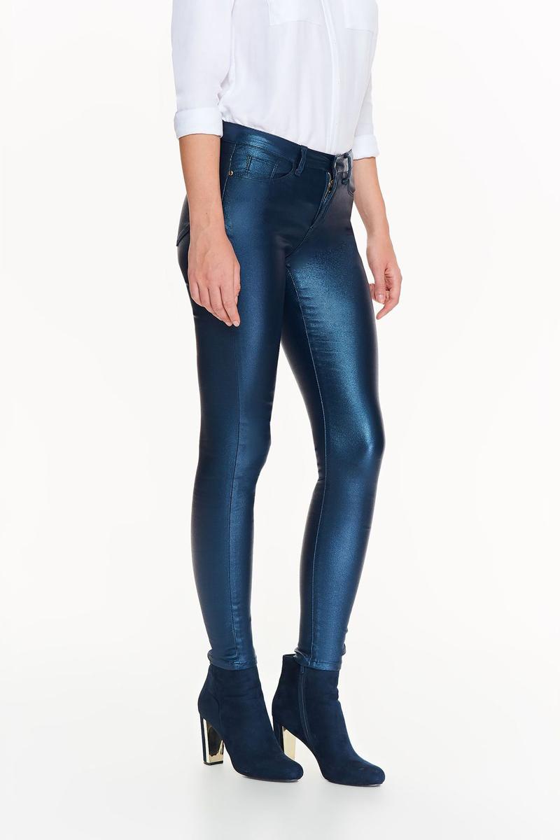 Брюки женские Top Secret, цвет: темно-синий. SSP2712GR. Размер 38 (46)SSP2712GRСтильные брюки Top Secret подчеркивают фигуру. Чрезвычайно оригинальные, с металлическим блеском, станут эффектным элементом в любом стиле.