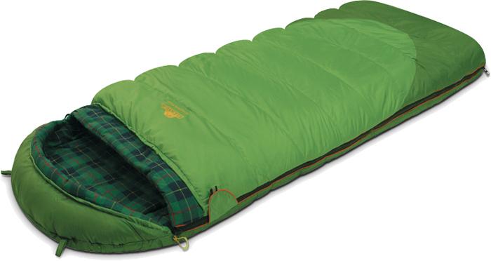 """Спальник-одеяло Alexika """"Siberia Plus"""" предназначен для активных туристов, получающих удовольствие от путешествий с палатками и ночевок в кемпингах. Он рассчитан на использование в летнее время, а также в мае и сентябре - относительно теплых месяцах, когда еще не случается сильных ночных заморозков. Комфортный спальник одеяло """"Siberia Plus"""" оснащен удобным подголовником, который поддерживает шею спящего во время ночного отдыха. Размер мешка позволяет отлично использовать данную модель даже туристам, отличающимся высоким ростом. Инновационный утеплитель APF-Isoterm 3D не скатывается, а распределяется равномерным слоем по всей поверхности спальника-одеяла.  Спальник с подголовником можно моментально трансформировать в теплое одеяло. Для этого достаточно расстегнуть надежный замок-молнию. Отличительная особенность модели """"Siberia Plus"""" - зеленая внешняя поверхностная ткань, которая практически не пропускает влагу и холод. Внутренняя поверхность оформлена мягкой клетчатой тканью, весьма приятной на ощупь. Особое внимание разработчики уделили подголовнику. Он позволяет туристам спать даже без использования подушки. Для еще большего комфорта в этой зоне спальника-одеяла мягкий утеплитель использован в несколько слоев. Особенности: Отделение под подушку с двумя входами. Лента от закусывания молнии. Люминесцентная петля на замке молнии. Возможность состегивания спальников, имеющих молнии с правой и левой стороны. Петли для сушки. На треугольном клапане круглая липучка и светоотражающий ярлык. Утеплитель сформирован в пакеты, смещенные относительно друг друга на половину ширины пакета, что предотвращает проникновение холодного воздуха через швы.Размер в чехле: 49/30 см x 26 см. Внешняя ткань верх: Polyester 190T. Внешняя ткань низ: Polyester 190T Diamond RipStop PU 250 mm H2O. Внутренняя ткань: Flannel. Утеплитель: APF-Isoterm 3D."""
