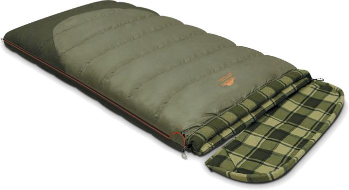 Спальный мешок-одеяло Alexika Siberia Wide Transformer, цвет: болотный, оливковый, левосторонняя молния. 9255.01072