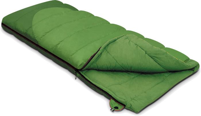 Спальный мешок-одеяло Alexika Siberia, цвет: зеленый, левосторонняя молния. 9251.01012