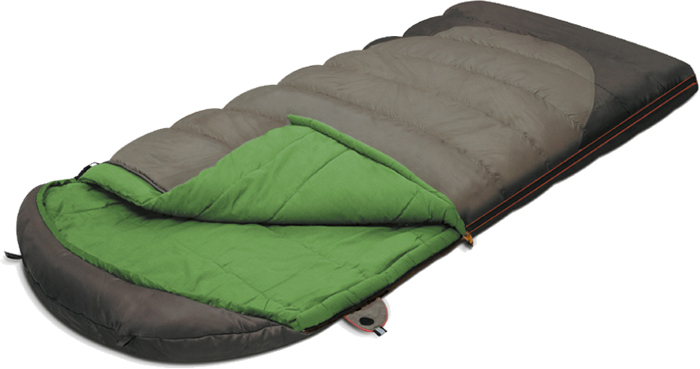 Спальный мешок-одеяло Alexika  Summer Wide Plus , цвет: серый, правосторонняя молния. 9259.01071 - Спальные мешки
