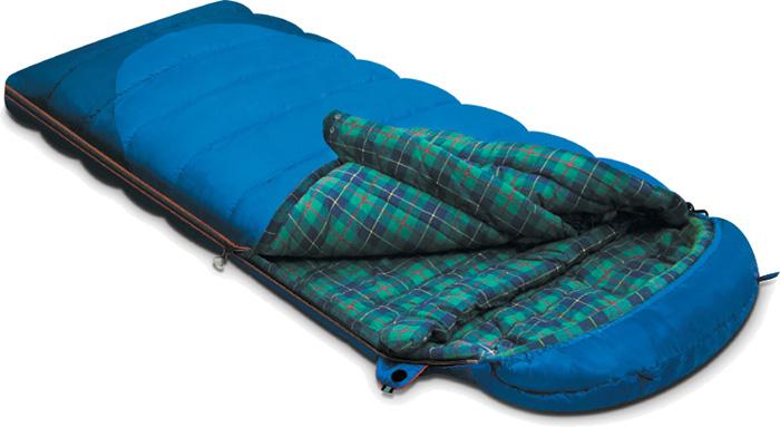 Спальный мешок-одеяло Alexika Tundra Plus, цвет: синий, левосторонняя молния. 9257.01052