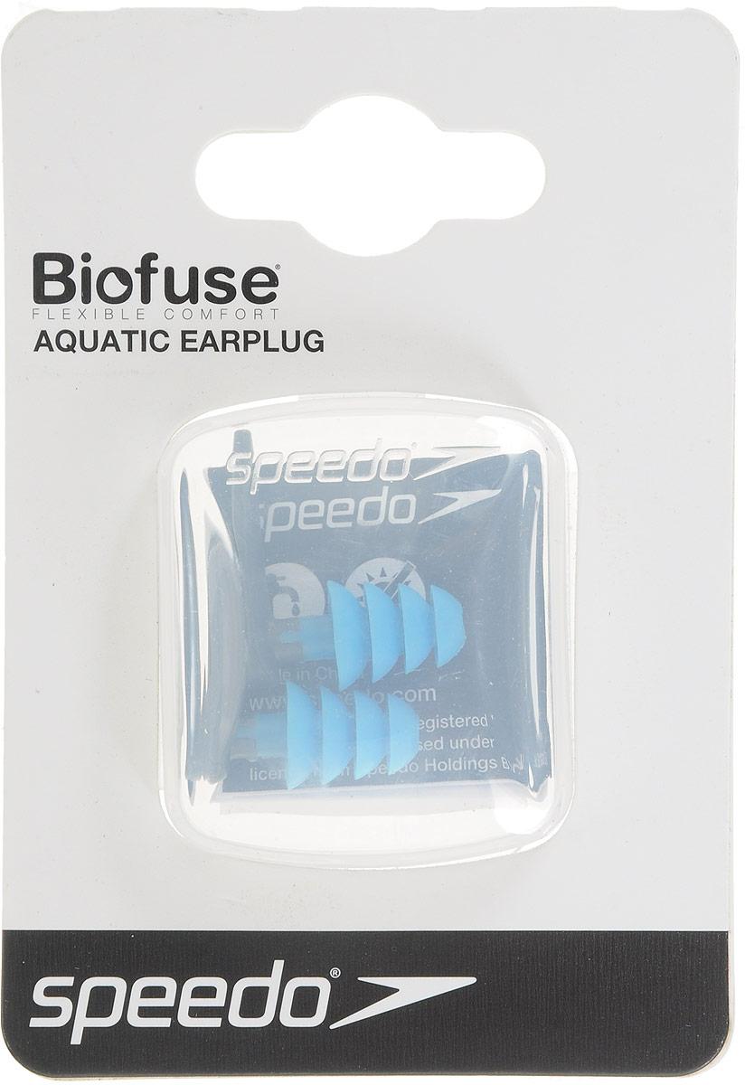 Беруши плавательные  Speedo , цвет: серый, голубой - Дайвинг