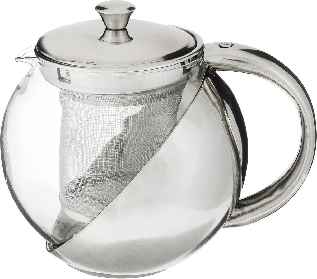 Чайник заварочный Bohmann, с фильтром, 750 мл9622BH/24Изящный и современный чайник Bohmann изготовлен из высококачественной нержавеющей стали и жаропрочного стекла. Съемный фильтр из стали позволит быстро и легко очистить чайник. Может быть использован для подачи как горячих, так и холодных напитков. Простой и удобный чайник Bohmann послужит великолепным подарком для любителей чая.Можно мыть в посудомоечной машине. Диаметр чайника (по верхнему краю): 8 см.Высота чайника (с учетом крышки): 13 см.Высота фильтра: 8 см.