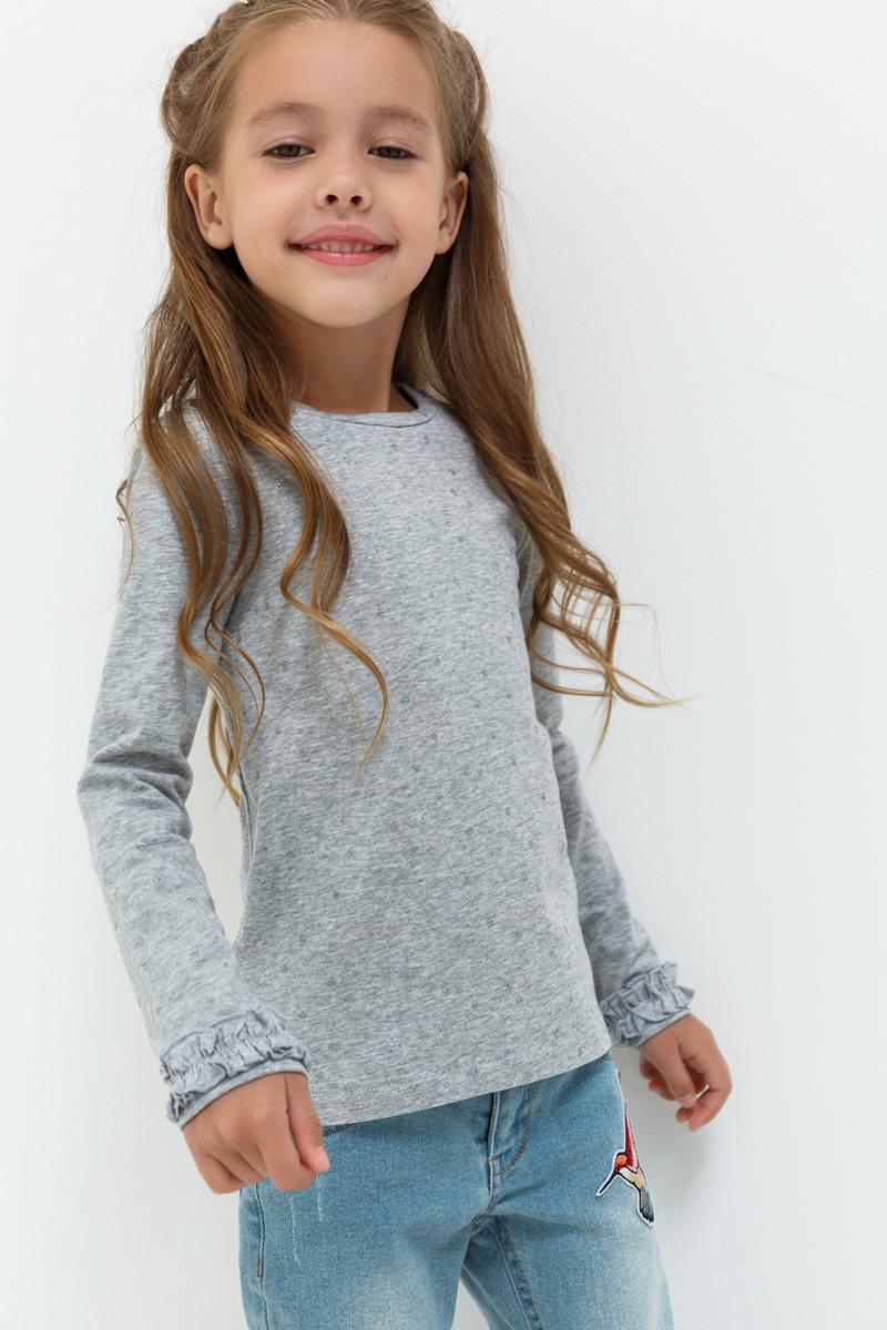 Джемпер для девочки Acoola Rubyrose, цвет: светло-серый. 20220100139_1800. Размер 11620220100139_1800